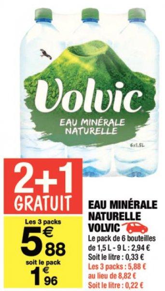 [Grenzgänger Frankreich] 18 x 1,5 Liter für 5,88€ = 6er Pack für 1,96€
