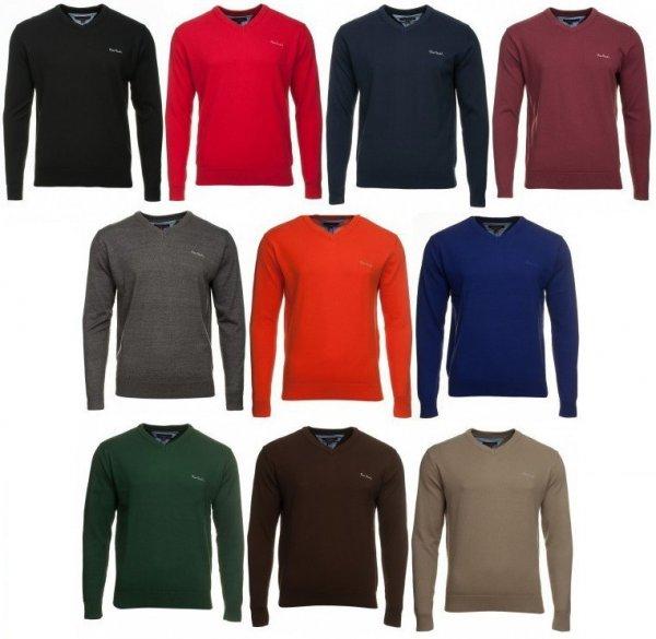 Outlet46 - Pierre Cardin V Neck Pullover 10 verschiedene Farben