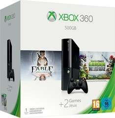 GameStop bundesweit (offline): Xbox 360 E 500GB + Fable Anniversary + Plants vs Zombies: Garden Warfare | 58€ unter idealo