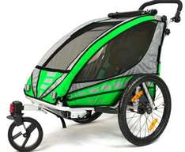 [Plus.de] Qeridoo Sportrex1 Kinderfahrradanhänger Aluminium grün für 287,96€ inkl. VSK statt ca. 350€