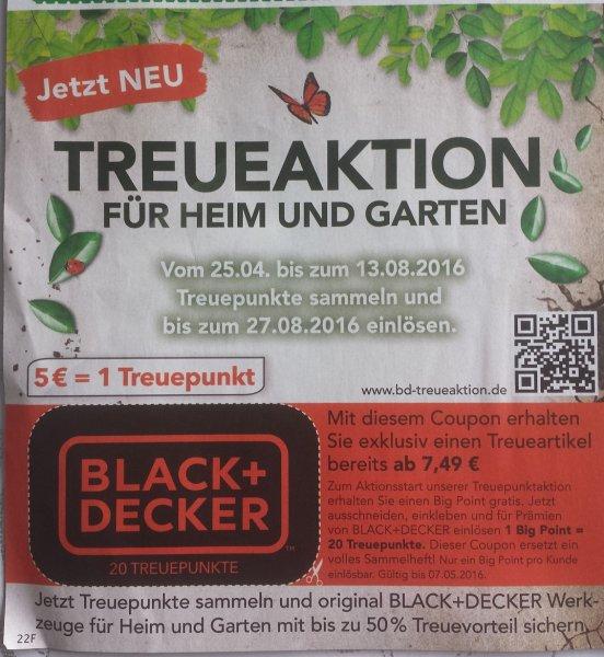 [EDEKA/Marktkauf] Black+Decker Treueaktion div. Geräte