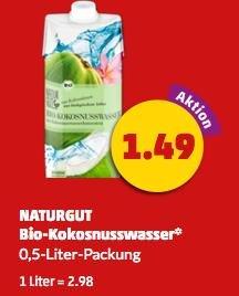 [Bundesweit, Penny] BIO Kokosnusswasser nur 1,49€/0,5-Liter-Packung [ab Montag im Angebot] => nur 2,98€/1L !