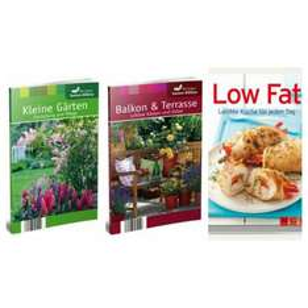 [Südkurier.de] 3 Bücher kostenlos: Low Fat Leichte Küche für jeden Tag / Gartenbibliothek - Kleine Gärten / Gartenbibliothek - Balkonpflanzen