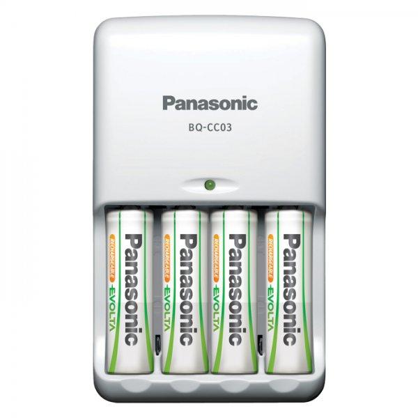 Panasonic BQ-CC03 Akkuladegerät für AA und AAA, 20 € im Media Markt Outlet über Ebay