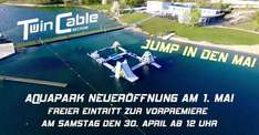 Am 30. April gratis in den See Aquapark Beckum Twin Cable