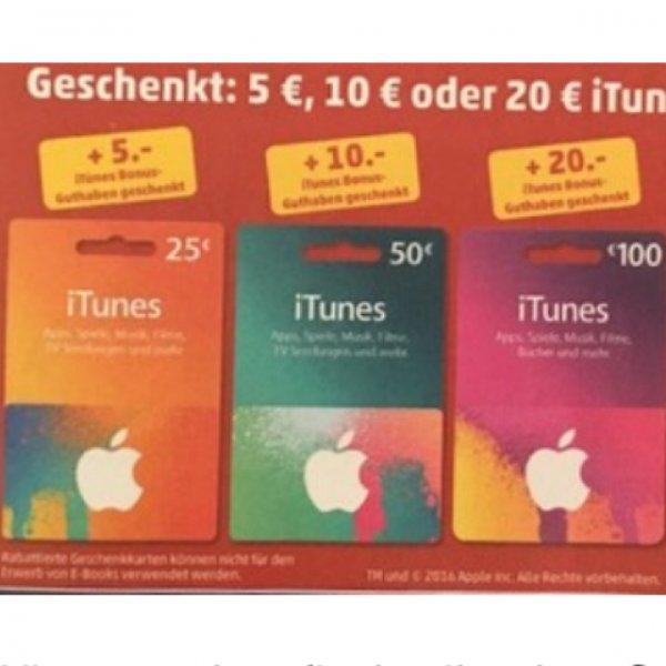 ITunes Guthaben +5,10 oder 20€ bei Penny