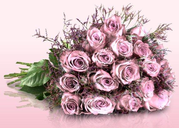 """""""Wonderful Pink"""" Blumenstrauß mit 18 Rosen für 17,90€ @ Miflora"""