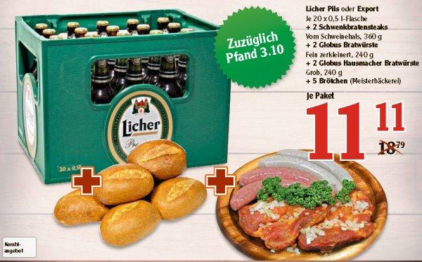 [lokal] Globus Hattersheim: 20 Licher + 2 Steaks + 4 Bratwürste + 5 Brötchen für 11,11€