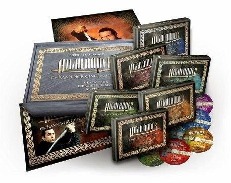 [Amazon] Highlander Holzbox Gesamtedition (Limited Edition) auf 45 DVDs (5667min.) für 79,97€ statt 117,99€