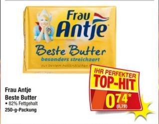 Frau Antje beste Butter für 0,79 € brutto (0,74 € netto) @ Metro 28.04. - 04.05.2016