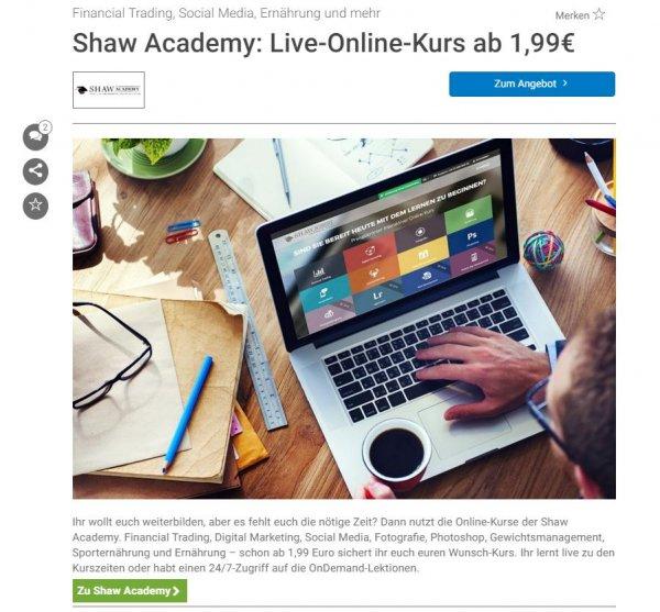 Live-Online-Kurse nur 1,99 Euro