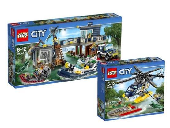 [Galeria Kaufhof] Lego City-Set Verfolgung im Hubschrauber 60067 & City Polizeiwache im Sumpf 60069 für 59,49€ statt ca. 80€