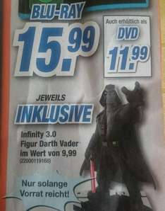 Star Wars (Blu-Ray oder DVD) inkl. Infinity Darth Vader