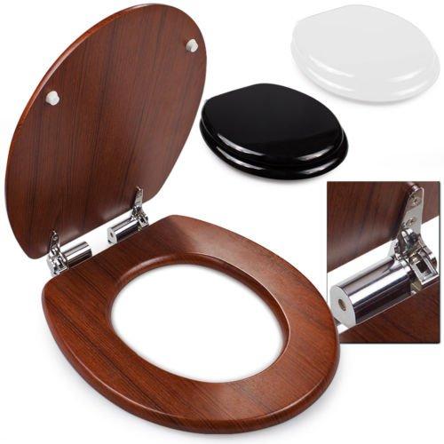 Ebay - Diesmal wirklich fürs (Gäste)Klo .. Toilettendeckel mit Absenkautomatik - schwarz,weiss oder Holz