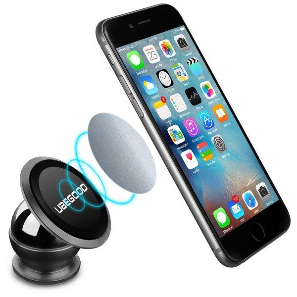Amazon Prime - Ubegood Magnet Handyhalterung Auto Halterung Universal KFZ Halter für jedes Smartphone für nur 5,60 € inkl. Versand (Normalpreis: 13,99€) – Ersparnis: 60%
