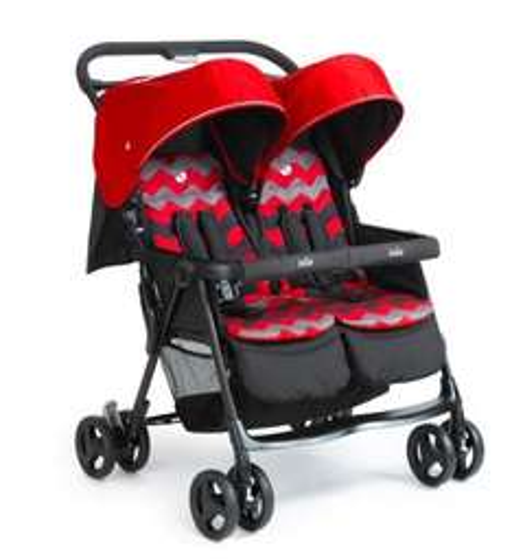 [babymarkt.de] JOIE AireTwin Zwillingsbuggy Ladybird Chevron für 139,49€ statt ca. 180€