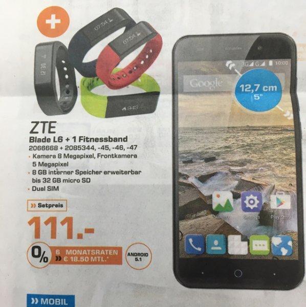 [Saturn Berlin Reinickendorf ]ZTE Blade L6 + ZTE W05 Smartband