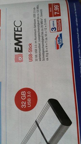Aldi Nord Aluminium 32 GB USB 3.0 Emtec für 7,99 Euro