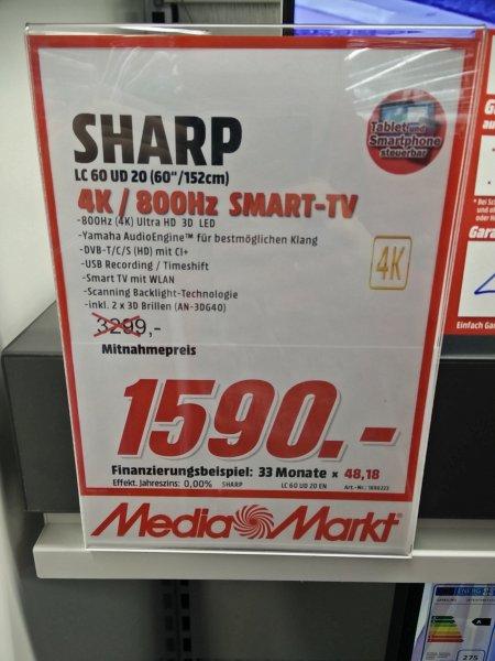 [Lokal MM Mainz] Sharp LC 60 UD 20 EN