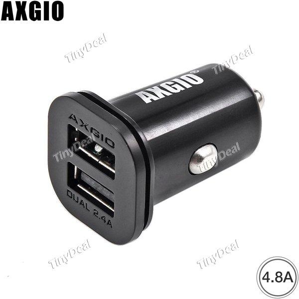 AXGIO 4.8A Dual-Port-USB Auto Ladegerät für iPad Pro iPhone SE Samsung Galaxy S7 iOS & Android