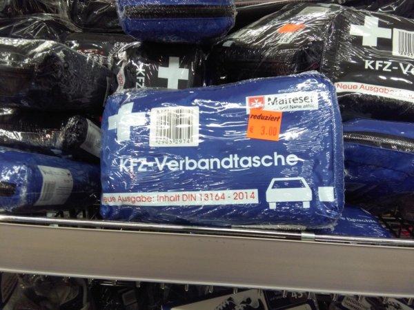 [Aldi Nord - Dortmund Kruckel]: KFZ-Verbandtasche nach DIN 13164 - 2014 für 3€