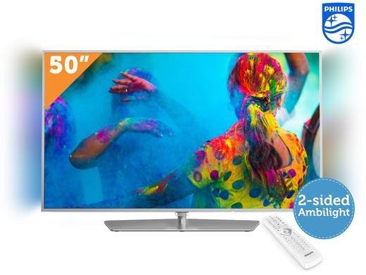 [Ibood] Philips 50PFK6510 Ambilight 3D Smart TV (50'' FHD Edge-lit Dimming mit Ambilight, 800Hz [100Hz nativ], 350cd/m², Triple Tuner, 4x HDMI, 3x USB, LAN + WLAN ac, Smart TV mit Android 5.1, 3D aktiv) für 658,90€
