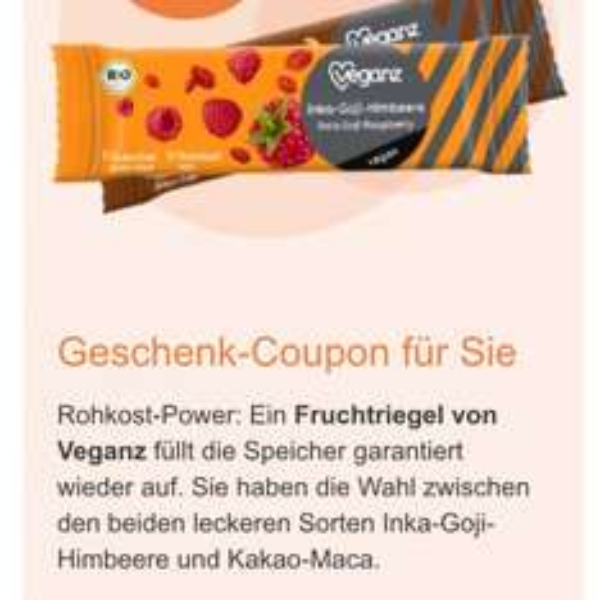 [dm Glückskind Newsletter] Veganz Fruchtriegel