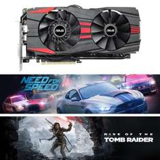 ASUS GAMING GeForce GTX960 OC Black 4GB Grafikkarte + Tomb Raider + Need For Speed (2016) für 189,90 € inkl. Versand @ ebay-ALTERNATE