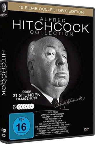[Thalia] Alfred Hitchcock Collection - Collector's Edition (15 Filme auf 6 DVDs) für 9,99€ (Abholung) bzw. 10,99€ (Lieferung)