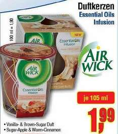 [Center Shop ab 02.05.] Air Wick Essential Oils Infusion Duftkerzen für 1,99 € (Idealo ab 5,35 €)