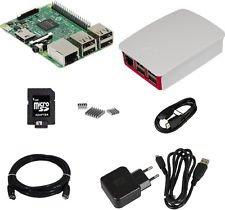 Raspberry Pi 3 + Gehäuse weiß + Netzteil + 8GB SD + 2m HDMI + Kühlkörp.