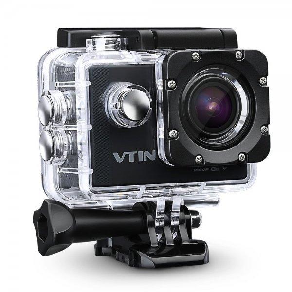 AMAZON VTIN Full HD Action Kamera WIFI 2,0 Zoll 1080P Sport Kamera Camera Wasserdicht 170 Weitwinkel-Objektiv 12MP Actioncam mit 2 Batterien und Zubehör Kits für Fahrrad Motorrad Tauchen Schwimmen usw.