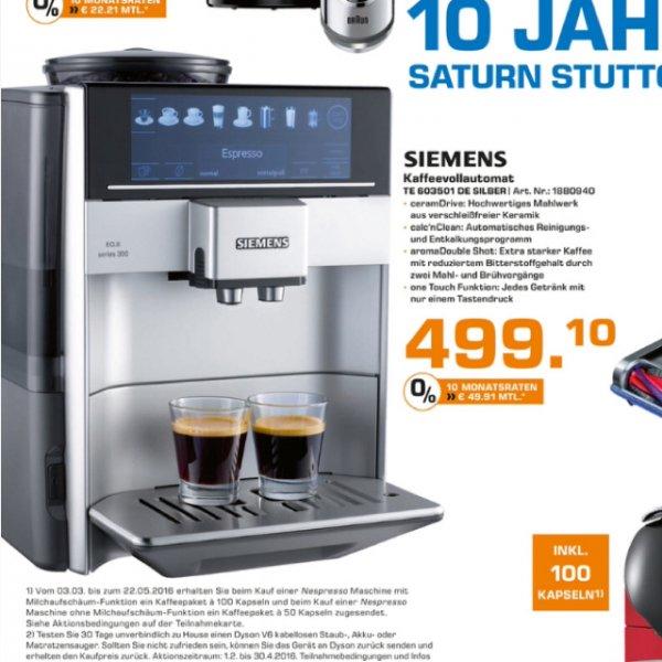 Siemens EQ6 series 300 - Kaffevollautomat @ Saturn Stuttgart