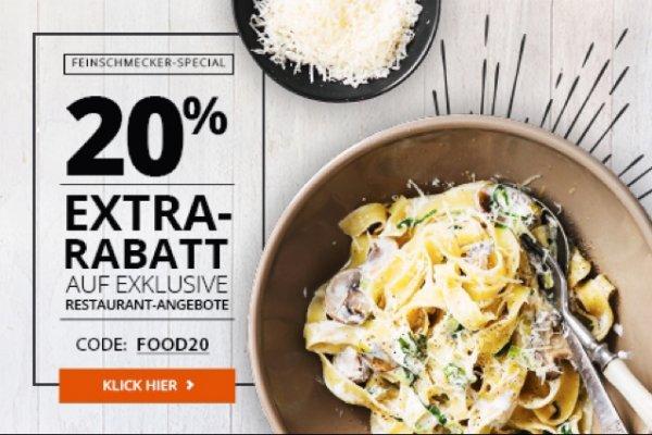 [Groupon] Nur heute 20% Rabatt auf lokale Restaurant-Angebote