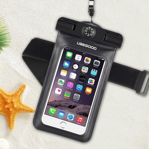 Amazon Prime - Wasserdichte Hülle mit Kompass fürs Smartphone inkl.Tragegurt & Armband in Schwarz für nur 4€ inkl. Versand (Normalpreis: 9,99€) - Ersparnis: 60%