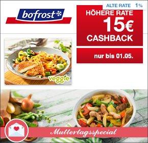 [Qipu] - Bofrost - 15 Euro Cashback (30 Euro MBW) + 10 € Gutschein & 4 + 1 Gratis Aktion