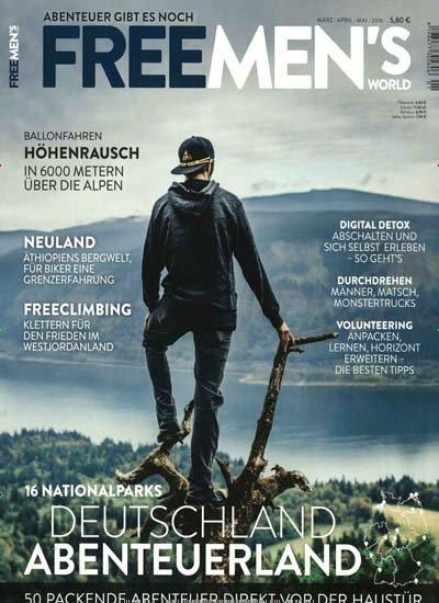 """""""FREE MEN'S WORLD"""" - Jahresabo des Männer Abenteuermagazins für eff. 13,80€"""