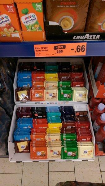 Ritter Sport verschiedene Sorten für 0.66€ bei Lidl