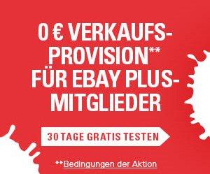 0 € eBay Verkaufsprovision für eBay - Plus-Mitglieder bis 01.05.2016