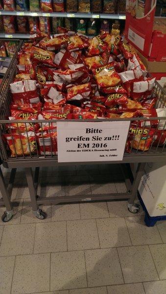 Gratis gut und günstig Kartoffelchips bei Edeka Hessenring