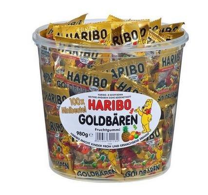 (Preisfehler Hitmeister) 5x Goldbären Mini Beutel in Runddose, 980g für 10€