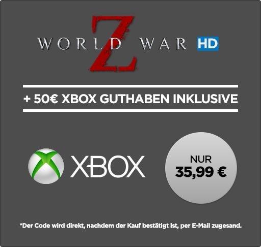 50€ Xbox Live Guthaben + World War Z (HD) - für 35,99€ - Wuaki.tv - Wieder da!!