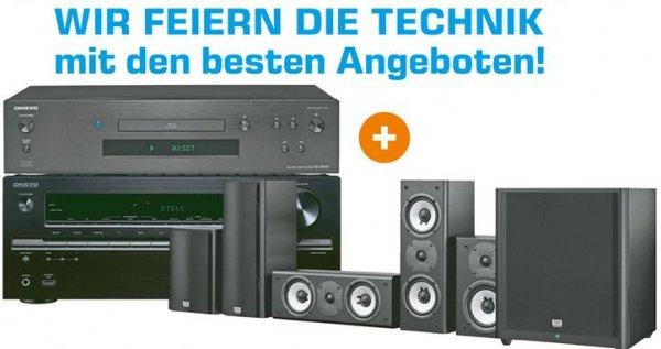 [Lokal Saturn Fürth/Nürnberg] Onkyo TX-NR747 Silber - 7.2-AV-Receiver + Onkyo BD-SP809 Blu-Ray Player + Onkyo SKS-HT978 THX, Schwarz - 5.1-Kanal THX Heimkino-Lautsprechersystem für 888,-€