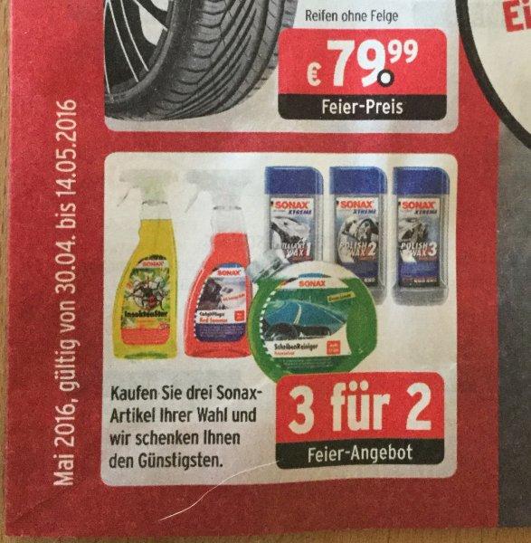 ATU - Kaufe 3 Sonax Produkte deiner Wahl, bezahle nur 2