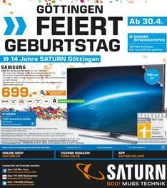 Saturn Göttingen - Samsung UE55JU6450 4K LED-TV für 699€