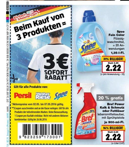 Spee Waschmittel 20WL 2,22 beim Kauf von 3 Flaschen 1,22 pro Fl. Kaufland Remscheid lokal