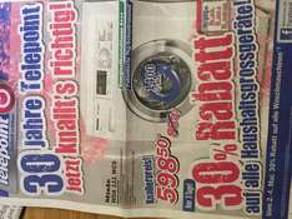 [Lokal Oldenburg?] Telepoint Waschmaschine Miele WDA 111 WCS