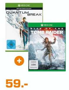 [Lokal Saturn Hamm/Hamburg] Rise of the Tomb Raider (Xbox One) + Quantum Break inkl. Alan Wake (DLC) (Xbox One) für 59,-€
