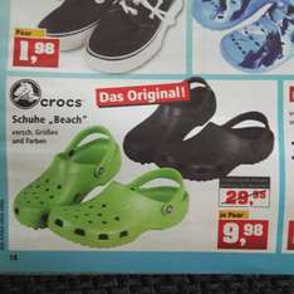 """Original Crocs® """"Beach"""" bei Thomas Philipps Sonderposten nur 9,98€!"""