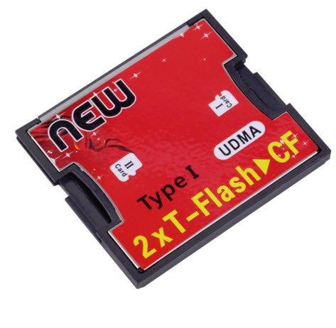 Aliexpress - 10% Rabatt – dual micro SD auf CF / Compact Flash Karte Adapter